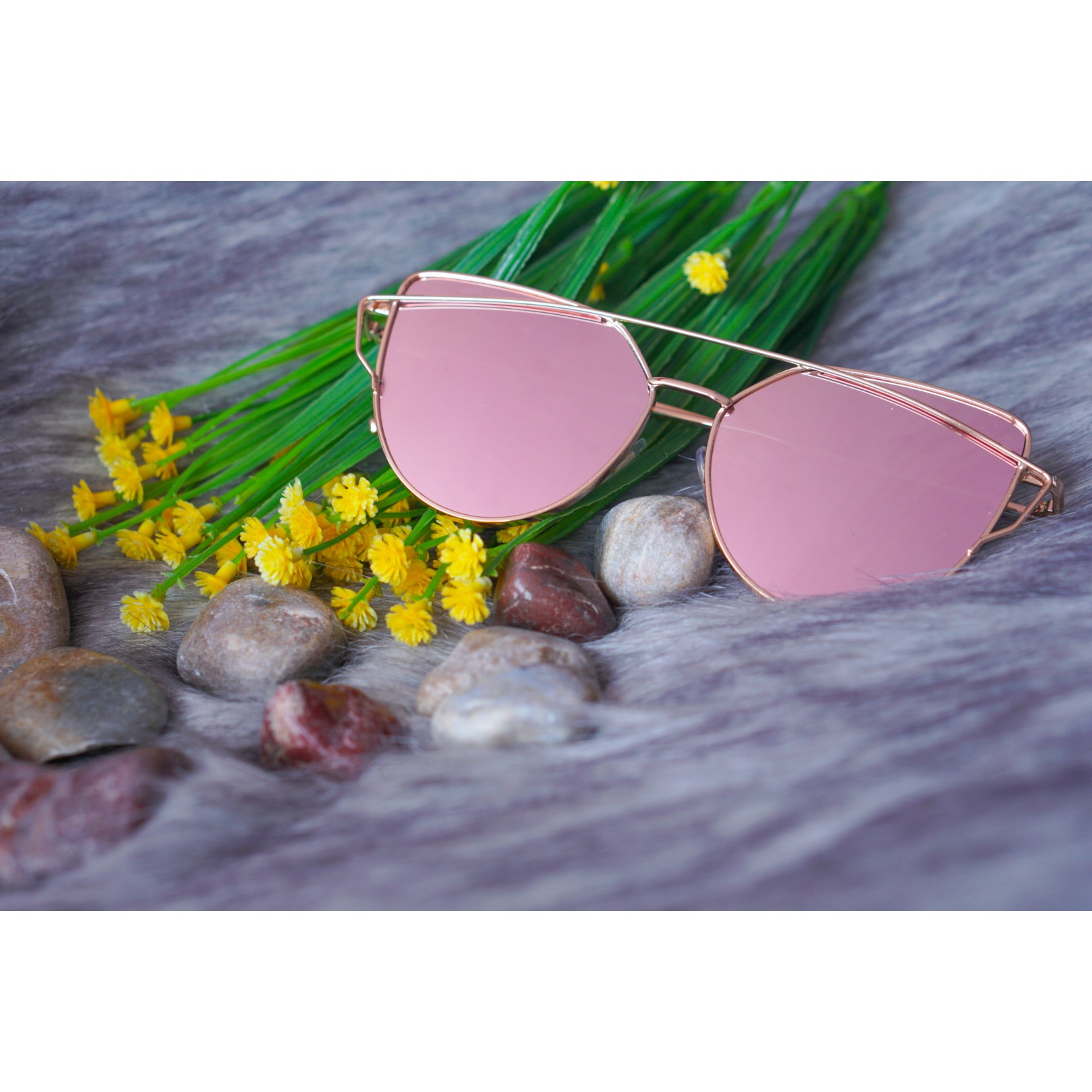 Austin Bridge Sunnies- Rose Gold (1)