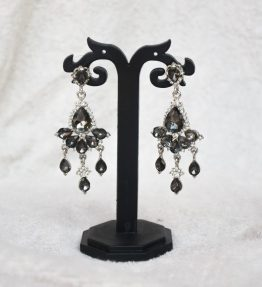 Black Crystal Earrings (1)