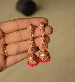 Ethnic Dangling Jhumkis (6)