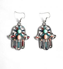 Hamsa Stone Earrings(1)