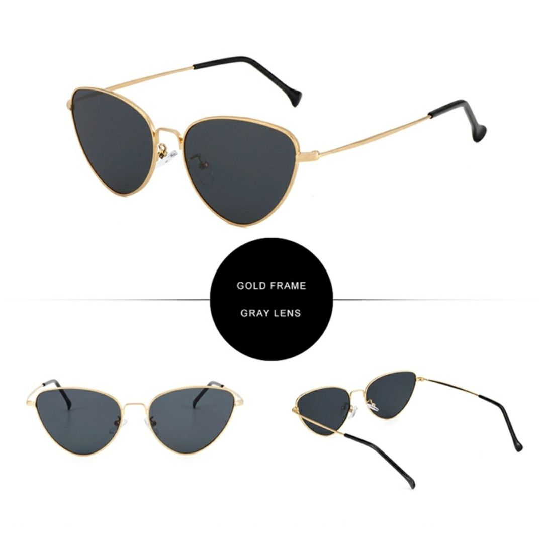 Tinted Cat Eye Sunnies-Black