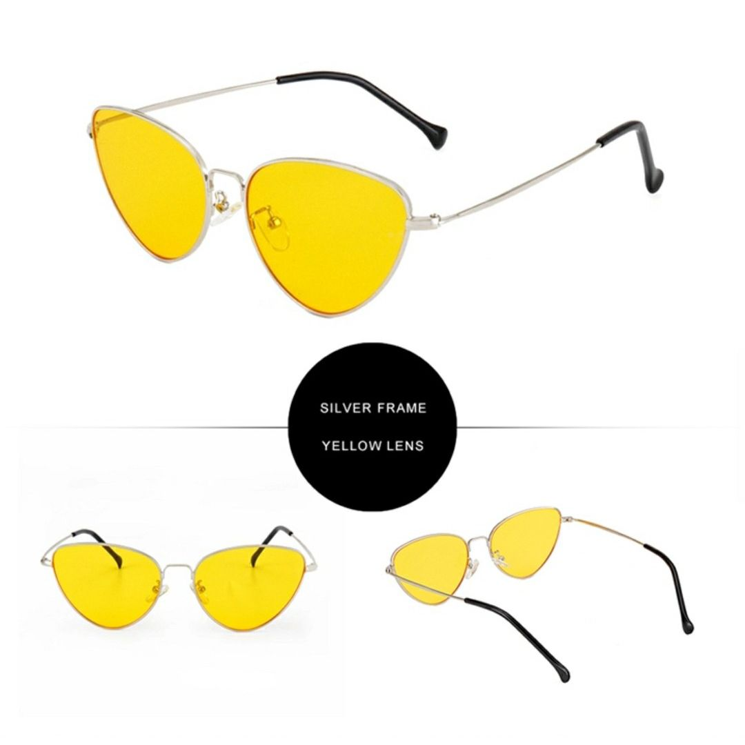 Tinted Cat Eye Sunnies-Yellow