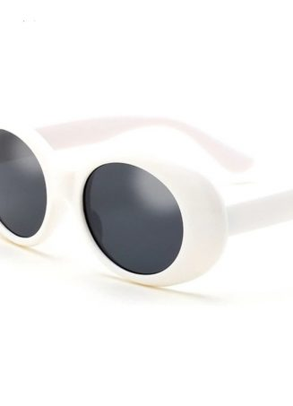 Retro Oval Sunnies - White (3)