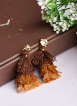 Tricolour Tassel Earrings (2)