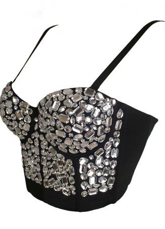 Crystal Bustier Top - Clear (2)