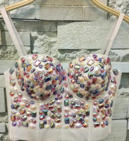 Crystal Bustier Top - MultiWhite