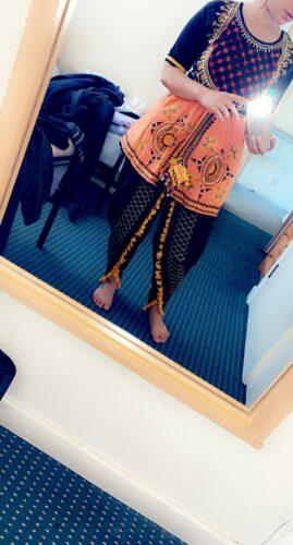 Black Long    Kedia with Maharano Yoke and Tulip Pants Set photo review